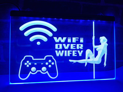 WiFi Over Wifey Illuminated Sign