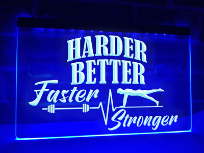 Harder Better Faster Stronger Illuminated Sign