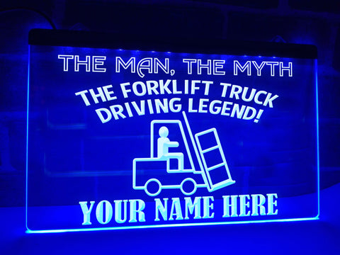 Image of Forklift Truck Legend Personalized Illuminated Sign