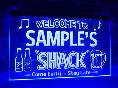 Welcome to My Shack Personalized Illuminated Sign