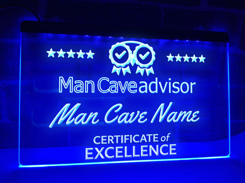 Man Cave Advisor Personalized Illuminated Sign