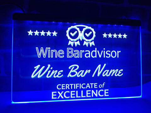 Image of Wine Bar Advisor Personalized Illuminated Sign