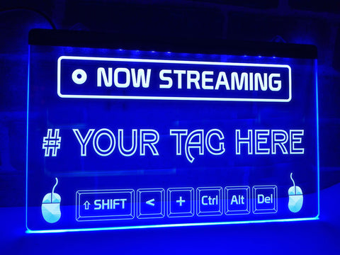 Image of Now Streaming Personalized Illuminated Sign