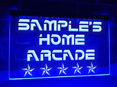 Image of Home Arcade Personalized Illuminated Sign