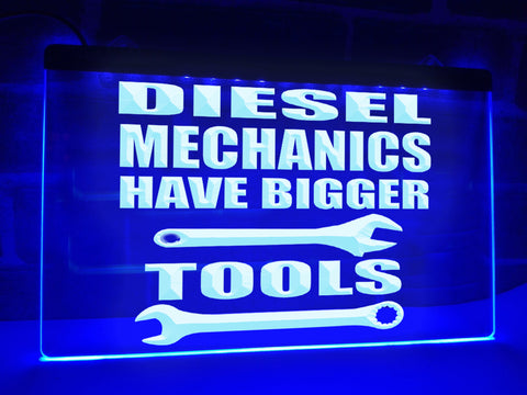 Diesel Mechanics Illuminated Sign