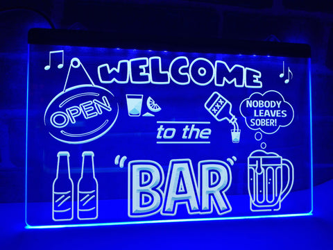 Image of Welcome to the Bar Illuminated Sign
