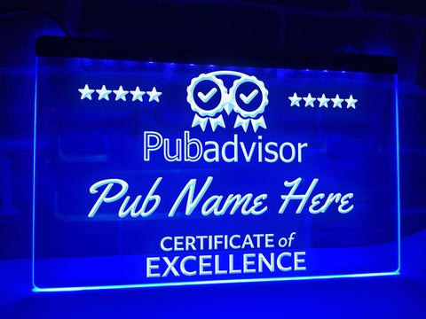 Image of Pub Advisor Personalized Illuminated Sign