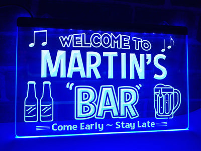 Welcome to My Bar Personalized Illuminated Sign