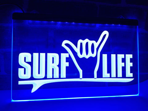 Surf Life Illuminated Sign