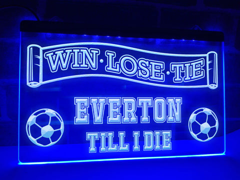 Everton Till I Die Illuminated Sign