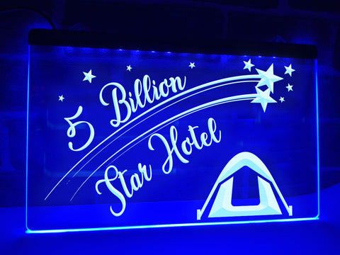 Image of 5 Billion Star Hotel Illuminated Sign