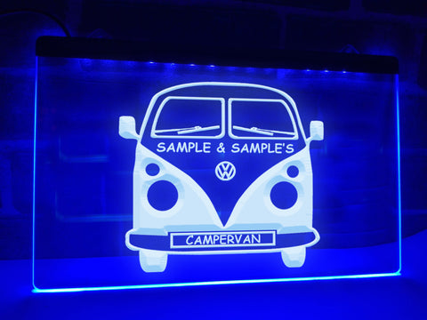 Image of Campervan Personalized Illuminated Sign