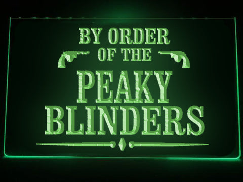 By Order of the Peaky Blinders Illuminated Sign