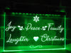 Joy Peace Family Illuminated Sign