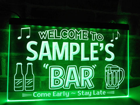 Personalized Bar Sign Green