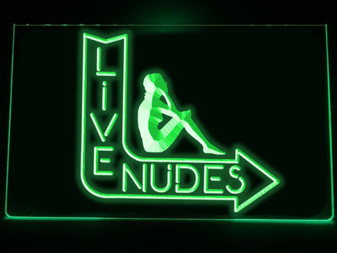Image of Live Nudes Illuminated LED Sign
