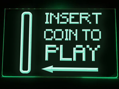 Insert Coin To Play Illuminated Sign
