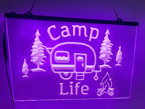 Image of Camp Life Illuminated Sign