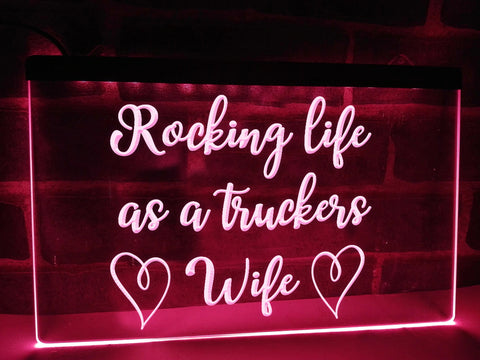 Image of Rocking Wife Illuminated Sign
