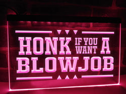 Honk For BJ Funny Illuminated Sign