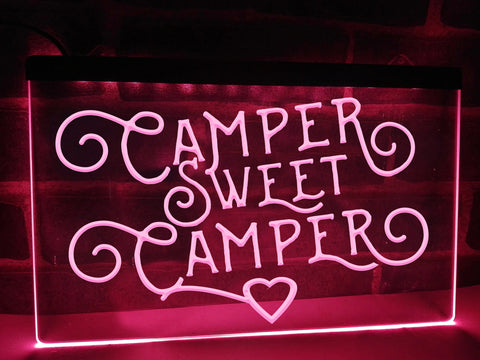 Image of Camper Sweet Camper Illuminated Sign