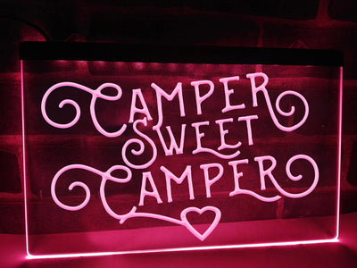 Camper Sweet Camper Illuminated Sign