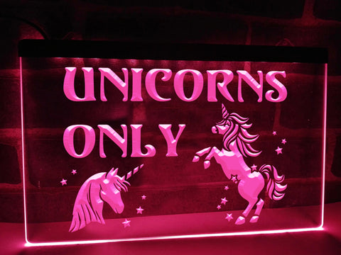 Image of Unicorns Only Illuminated Sign