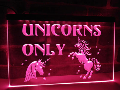 Unicorns Only Illuminated Sign
