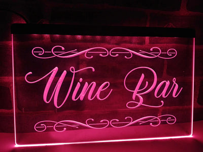 Wine Bar Illuminated Sign