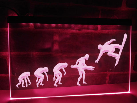 Snowboarder Evolution Illuminated Sign