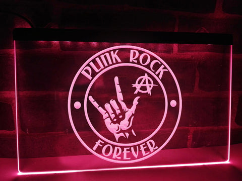 Image of Punk Rock Forever Illuminated Sign