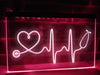Stethoscope Heartbeat Illuminated Sign