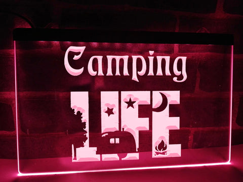 Image of Camping Life Illuminated Sign