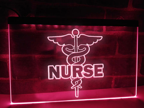 Nurse Caduceus Illuminated Sign