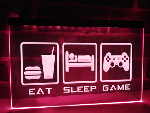 Eat Sleep Game Illuminated Sign