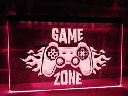 Flaming Game Zone Illuminated Sign