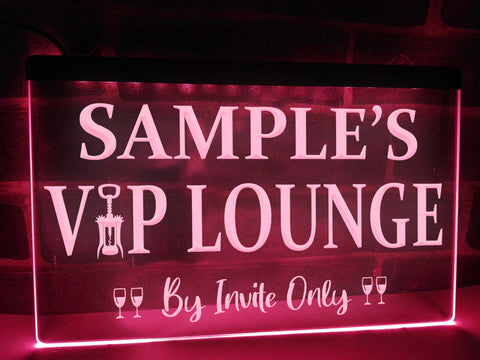 VIP Lounge Personalized Illuminated Sign
