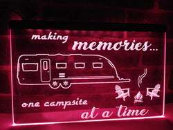 Making Memories in Large Travel Trailer Illuminated Sign