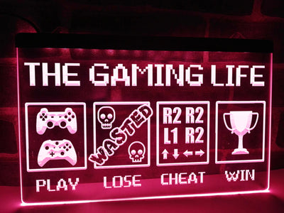 The Gaming Life Illuminated Sign