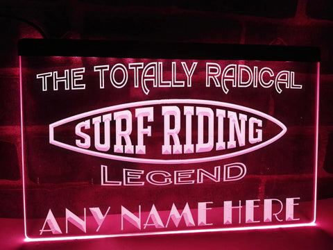 Image of Surf Riding Legend Personalized Illuminated Sign