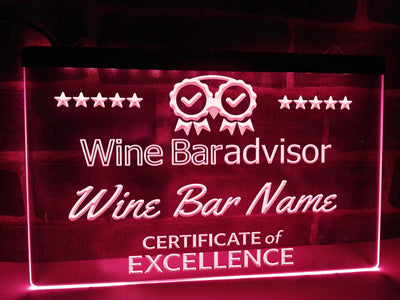 Wine Bar Advisor Personalized Illuminated Sign