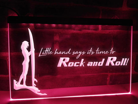Image of Time to Rock and Roll Illuminated Sign