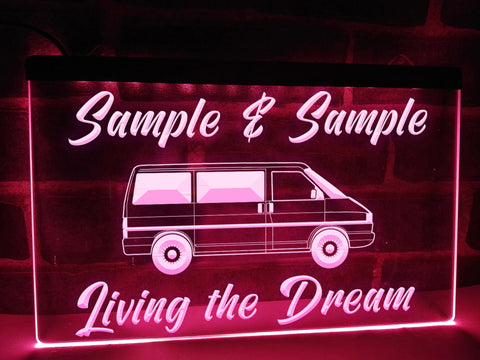 T4 Living the Dream Personalized Illuminated Sign