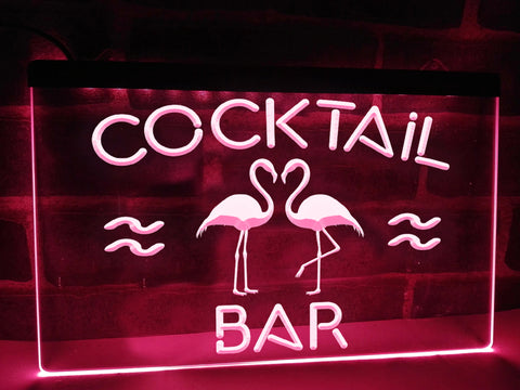 Neon cocktail bar sign