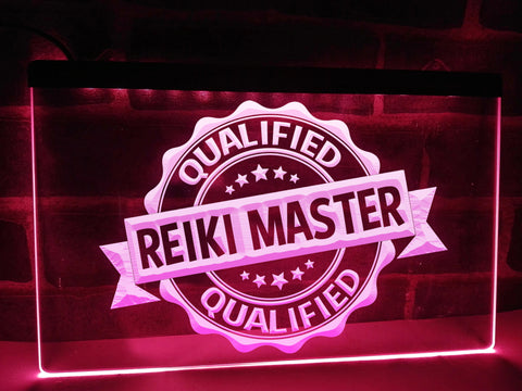 Reiki Master Illuminated Sign