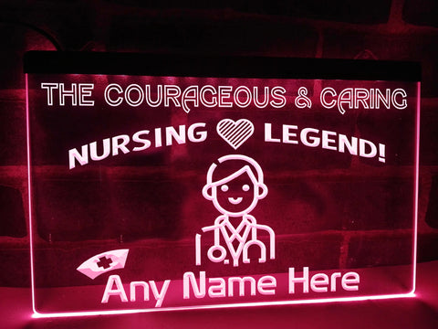 Nursing Legend Personalized Illuminated Sign