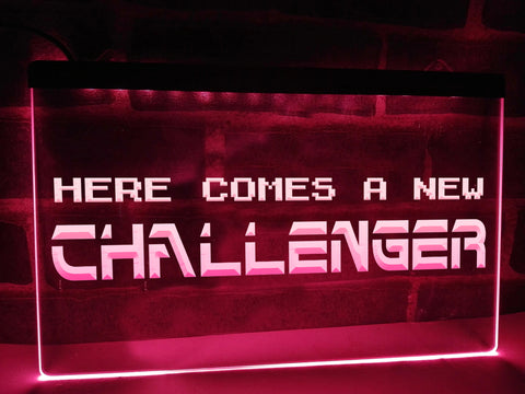Here Comes A New Challenger Illuminated Sign