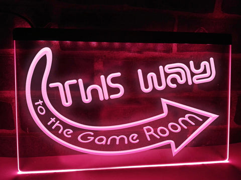 Image of This Way to the Game Room Illuminated Sign