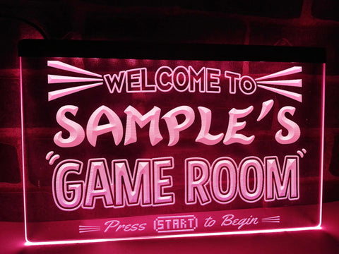 Welcome To My Game Room Personalized Illuminated Sign