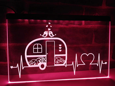 Campers Heartbeat Illuminated Sign